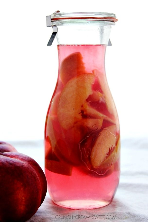 Homemade Peach Schnapps - a fruity liqueur for your summer cocktails! You won't believe how easy it is to make!
