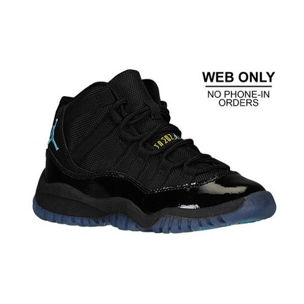Jordan Retro 11 Boys' Preschool ($80) ❤ liked on Polyvore featuring shoes,