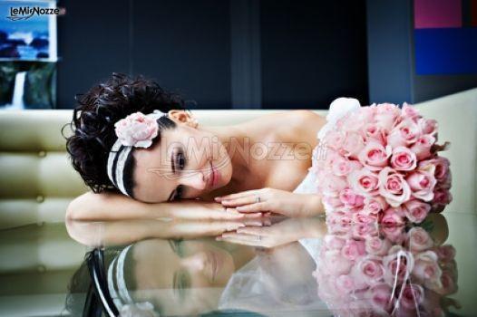#Bouquet da sposa con rose rosa!