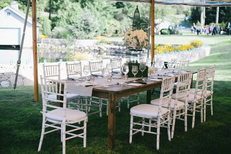 Wood Table And White Chairs | Wedding Inspiration | Pinterest | Weddings
