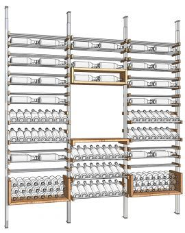 "This is IT! 108""x98"" ALL STAR unit 352 btles; 41x98 The Display unit 154 btles; 2 The U Shelf unit 29x98 90 btles each (180)"