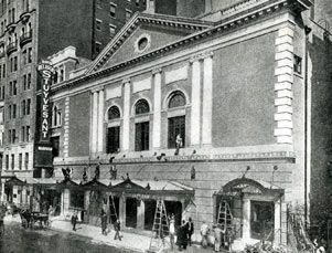 Belasco (formerly Stuyvesant) Theatre Exterior, 1907