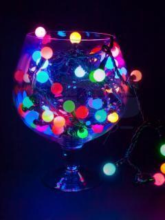 Гирлянды-лампочки  для ёлочки в бокале