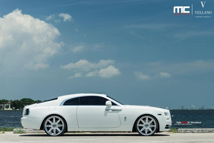 White Rolls-Royce Wraith Looks Stunning on Vellano 24s - Motorward