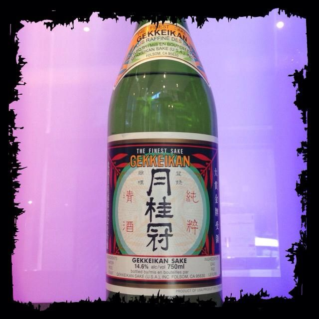 Herbaceous, earthy, with hints of grapefruit, #Gekkeikan traditional #sake is a hit at NÛ! #yycdrinks #yycfoodies