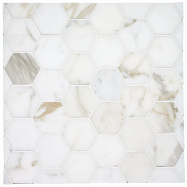 i've always LOVED the classic hex tile for bathroom floors. Just discovered this beautiful version in marble!