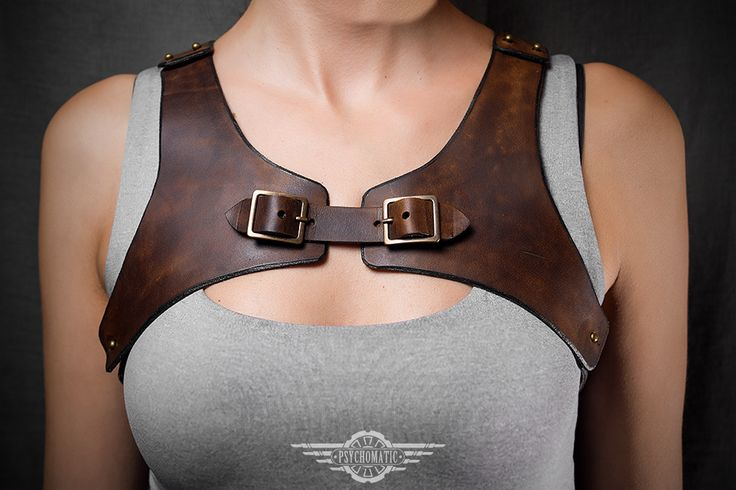 Steampunk leather harness by LahmatTea