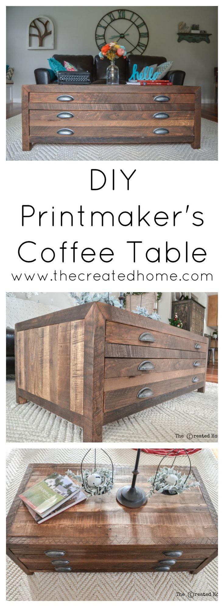 DIY Restoration Hardware Printmaker's Coffee Table Knock Off