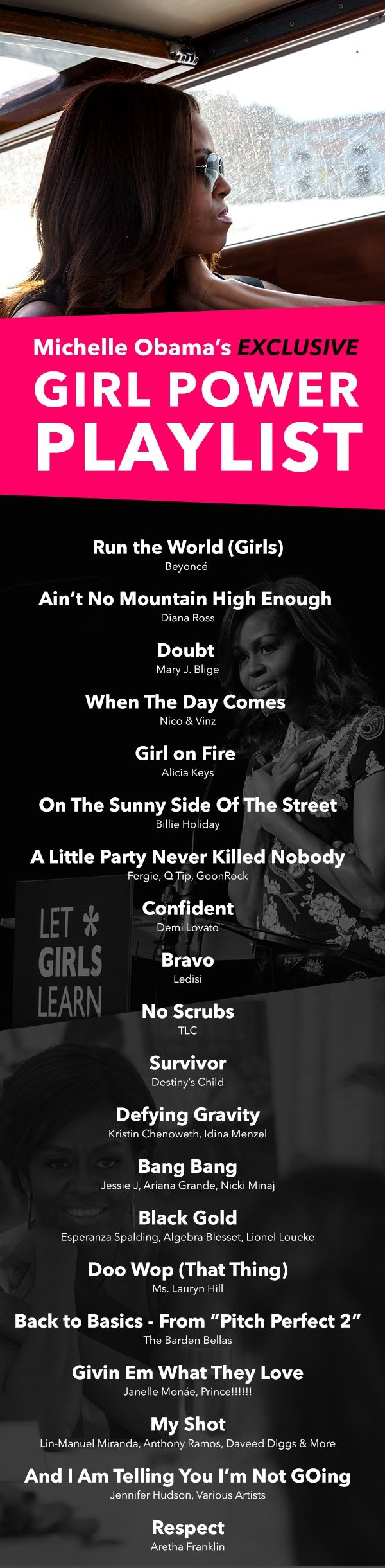 The ultimate girl power playlist from The First Lady herself