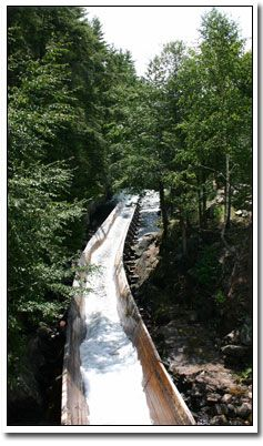 Hawk Lake Log Chute - just off Highway 35 a few minutes south of Dorset, Ontario.