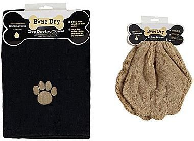 Microfiber Embroidered Towel and Drying Mitts Set