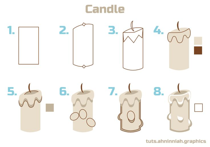 Inkscape tutorials | How to draw a candle
