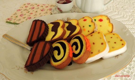 Felt Food Felt Cake Felt Home Party Decor Decoration by decocarin