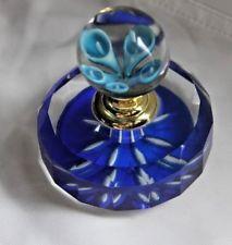 """Stunning Murano Cristalleria D'arte Blue Optic Glass Perfume Bottle Dauber 3"""""""