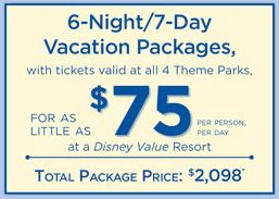 Disney World Package discount offer