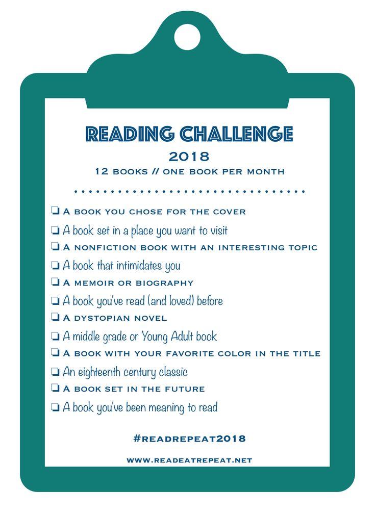 2018 Reading Challenge - www.readeatrepeat.net