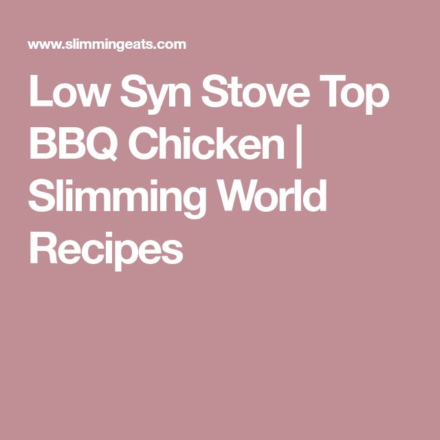 Low Syn Stove Top BBQ Chicken | Slimming World Recipes