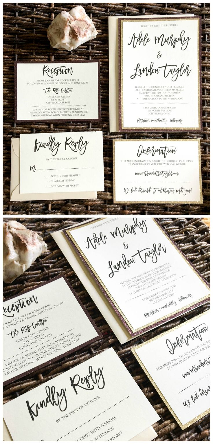 how to return address wedding envelopes%0A    Two layers of glitter is better than one  Nonflake Glitter cardstock  available  Glitter Wedding InvitationsGlitter