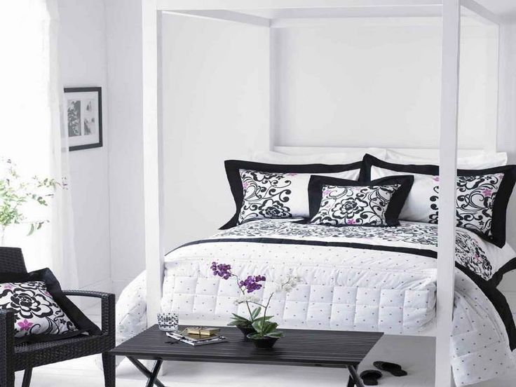 modern black and white bedrooms ideas