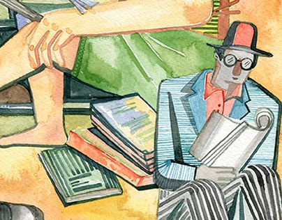 """Check out new work on my @Behance portfolio: """"reading"""" http://be.net/gallery/44776039/reading"""