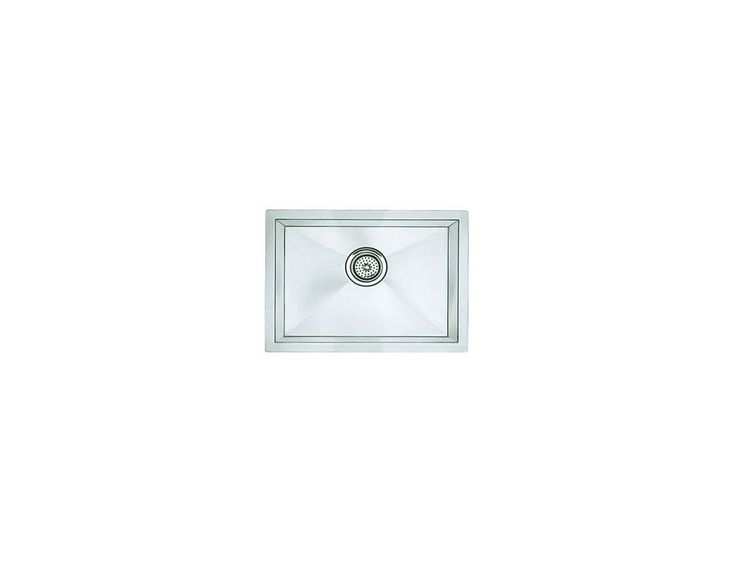Blanco 516223 Precision R10 Single Bowl Stainless Steel Kitchen Sink with Stylis Satin Polished Fixture Kitchen Sink Stainless Steel
