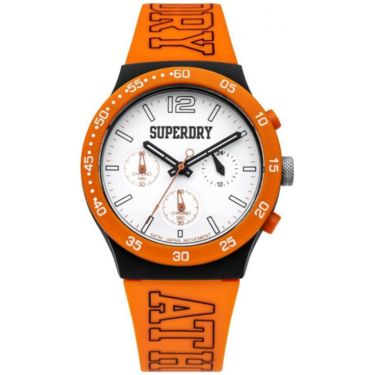 Men's Superdry Campus Nato Orange Strap Watch is that unique combination of  colour and style