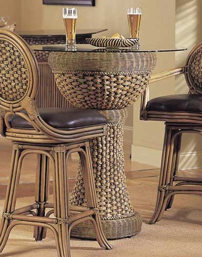Rattan Bar Table Set    everyfinehome.com