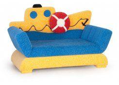 Детский диван-игрушка Кораблик описание, фото, выбор ткани или обивки, цены, характеристики