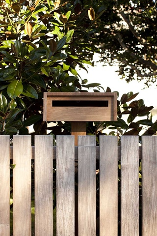 long and black steel perfect letterbox shape