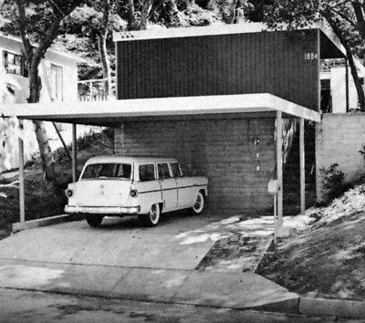 1964 GARAGES CARPORTS Parking Driveways Remodel mid century modern designs