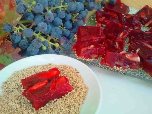 Moustalevria -- Greek Grape Juice Bites