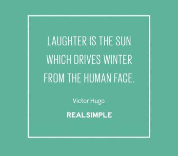 Inspiring words from Victor Hugo.