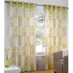 Maisy Green Eyelet Curtains