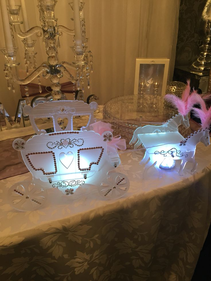 Princess Cinderella horse and carriage cake stand