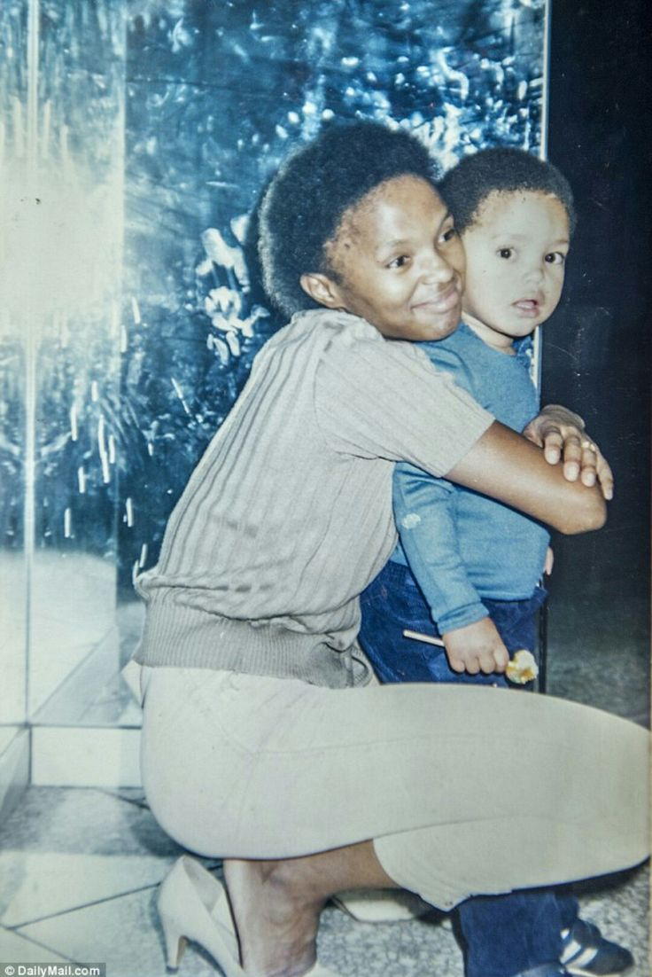 Trevor Noah with his mother Patricia. The three-year-old was living in his grandmother's home in Soweto with her, his mother and his cousins, and sleeping on the couch.