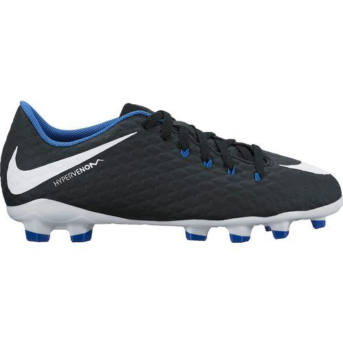 Nike Boys' Hypervenom Phelon III Jr. Firm-Ground Soccer Cleats (Black/White/Game Royal, Size 3) - Youth Soccer Shoes at Academy Sports