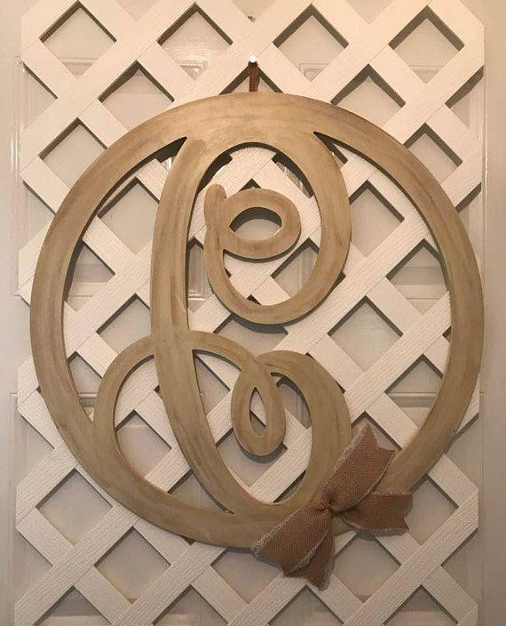 Monogram Wedding Gift - Rustic Wedding Decor - Rustic Door Hanger - Monogram Door Hanger - Monogram Door Decor - Monogram Wall Decor - Gift