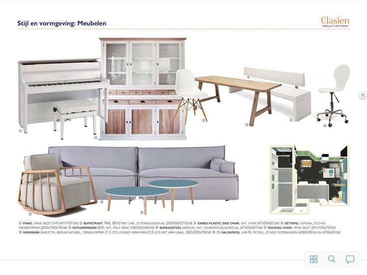Stijl en vormgeving meubels, EHCB examen interieurstyling