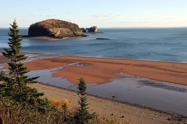 Bay of Fundy from Joggins Fossil Cliffs - Nova Scotia, Canada