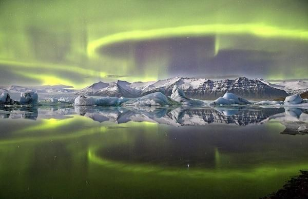 Aurora boreal. Islandia.