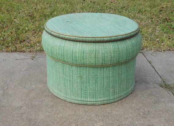 Funky Vintage Ottoman Pouf Seat Bench with by kissmyattvintage