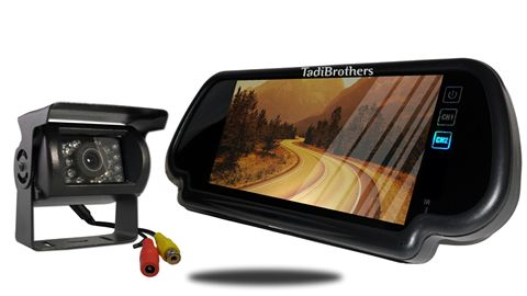 7-Inch Mirror with 120° RV Backup Camera