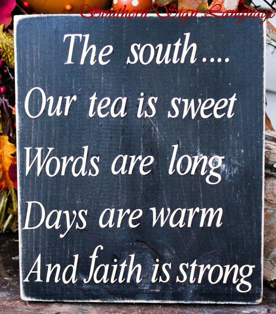The South Hand Made Wood Sign by SouthernSignLanguage on Etsy, $20.00