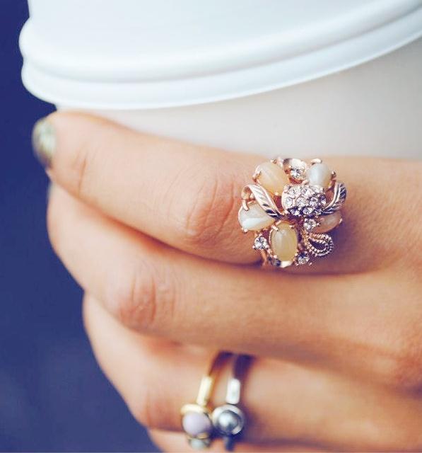 jewel bouquet ring
