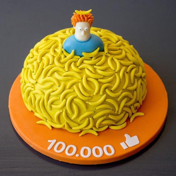 100K! 😃 #banaan #bananen #bananentaart #banana #cake  Taart door Homemade Delicious www.homemade-delicious.nl