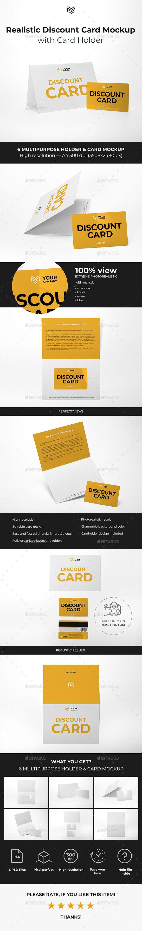 Multipurpose Card Holder Discount Card Mockup Discount Card Hotel Key Cards Best Visiting Card Designs