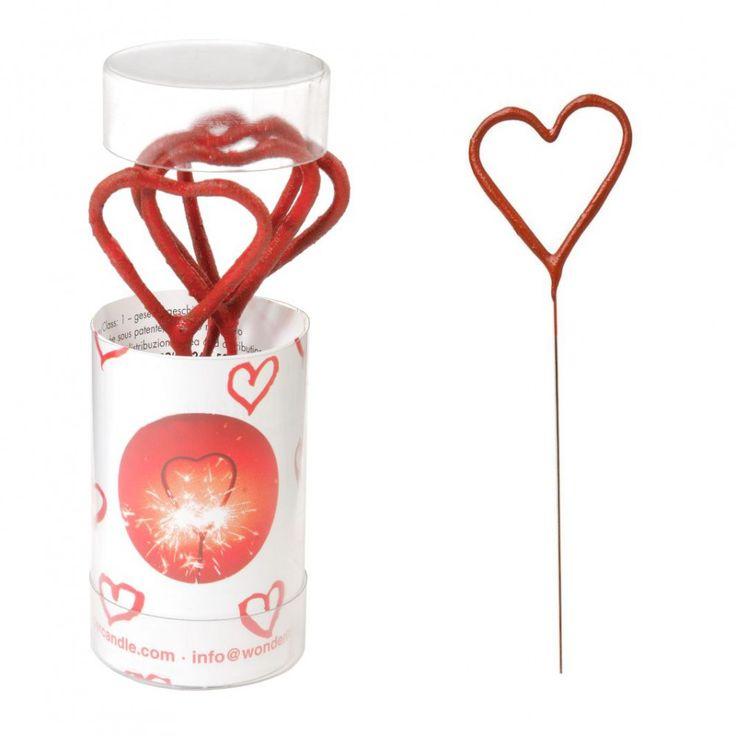 Wunderkerzen in Herzform ... zu kaufen bei Krause und Sohn GmbH