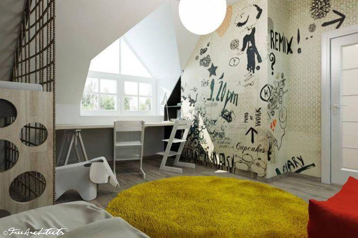 Návrh dětského pokoje v podkroví