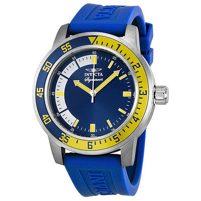 1000 images about designer watch listings invicta mens 7464 signature ii blue dial gold tone rubber strap mens sport watch