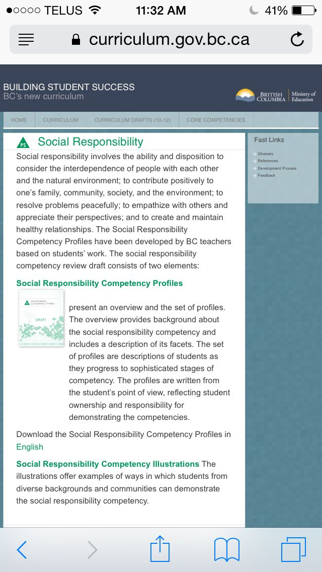 social responsibility competency